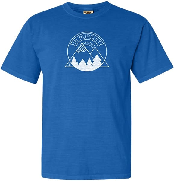 Image of a custom summer camp design on a t-shirt.