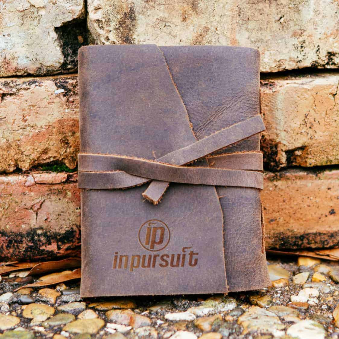 order handmade rustic leather journals free debossed logo
